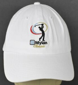 White Mylan Classic Golf Tour Embroidered Baseball Hat Cap
