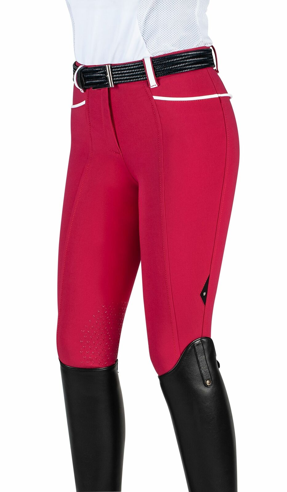 Equiline Juliette señora vollgrip reithose, Cherry rojo, SS 2019