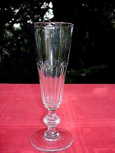 Importé De L'éTranger Baccarat SektglÄser Flute A Champagne Cristal Taille Cotes Plates 19 Xix Ème Aj