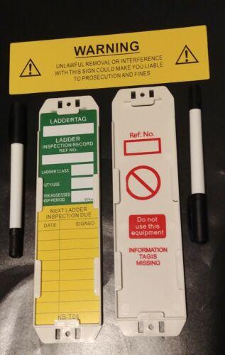 Échelle Tag sécurité balises échafaudage Tag-Boîte de 10