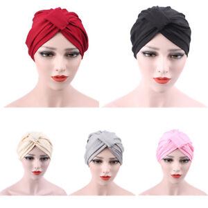 UK  EG  Ladies Soft Elastic Turban Hijab Head Wrap Chemo Cancer ... 7ea6118ab7b