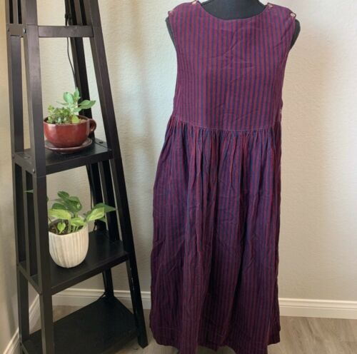 Vintage Laura Ashley striped long dress made in Gr