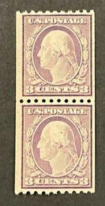 Scott#: 489 - George Washington, Type I 1916-1919, 3c Pair MNH OG - Lot 2