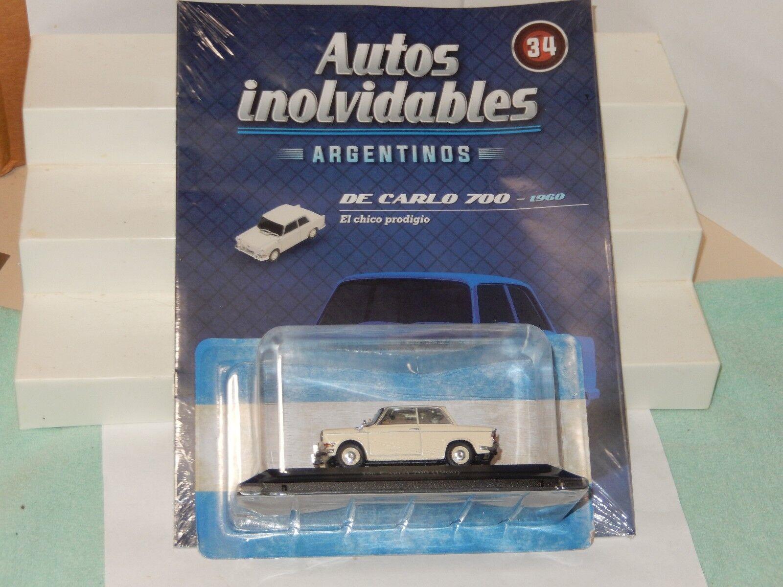 1960 de Carlo 700 BMW MICROCAR Diecast voiture neuf scellé 1 43 USA Vendeur