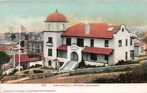 Bard-Hospital-Ventura-California-Early-Postcard-Unused
