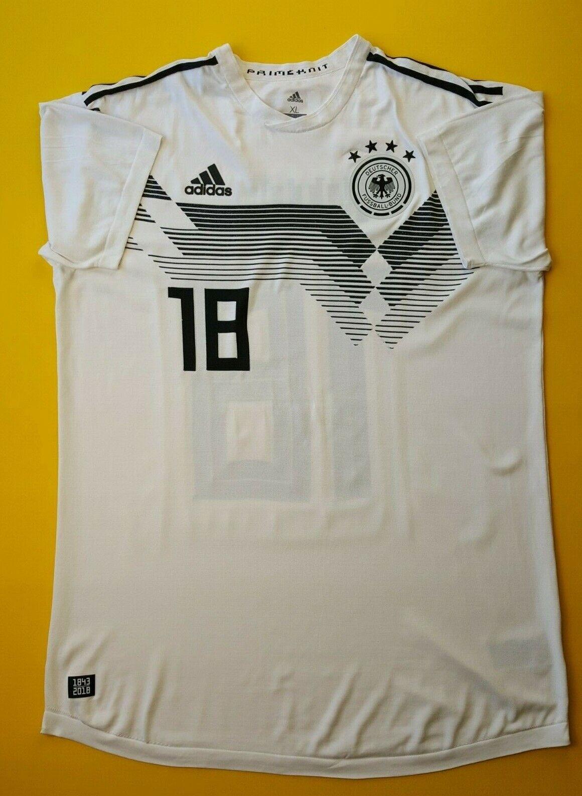4.9 5 Adidas Alemania Fútbol Jersey Camisa de fútbol de CE8462 ig93 2018 XL