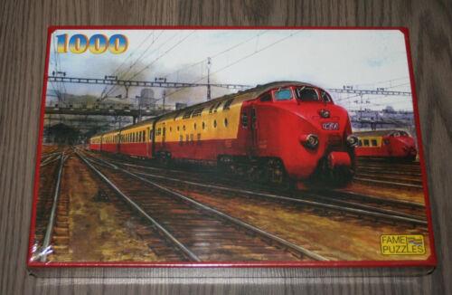 Puzzle Trans Europ Express 1000 Teile //// SBB TEE RAm 502 Trans Europ Express