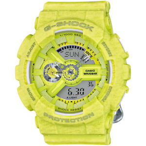 Casio-G-Shock-Women-039-s-S-Series-Quartz-Ana-Digi-Yellow-46mm-Watch-GMAS110HT-9A