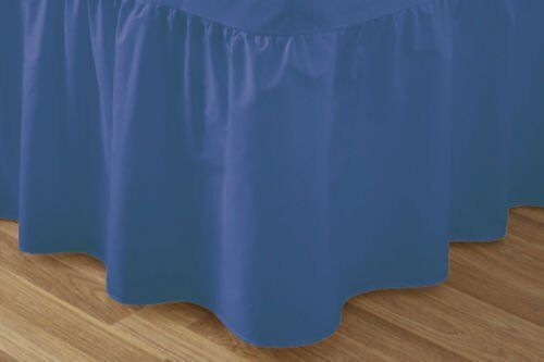 Plain Pollycotton Percale Valance Fitted Sheet Single Super King Double King