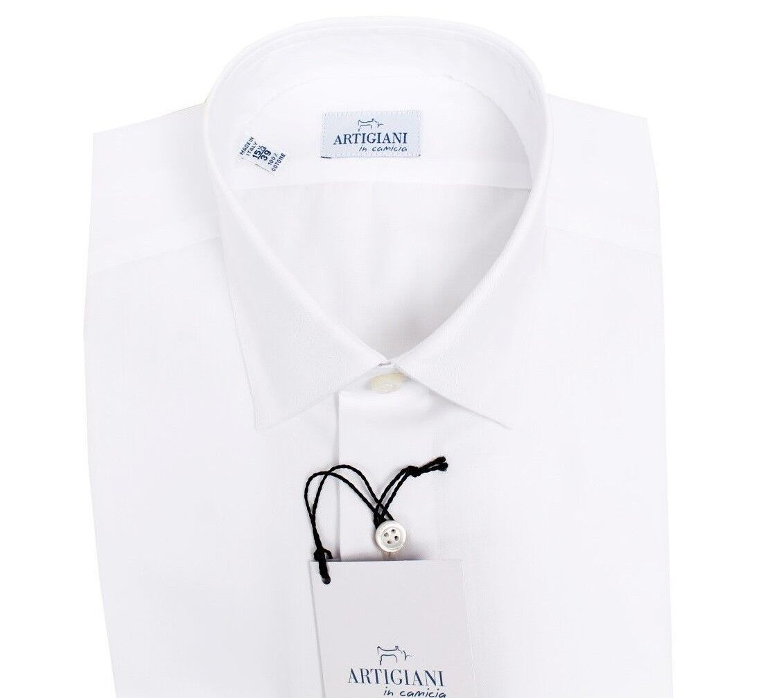 NEW Artigiani Napoli cotton handmade shirt 39 (US 15 1 2) shirtmaker Kiton