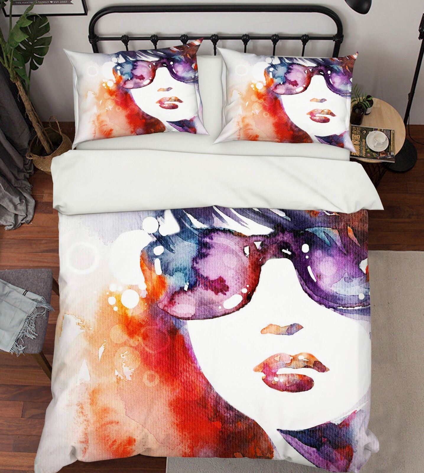 3D Painted Girl 686 Bed Pillowcases Quilt Duvet Cover Set Single King UK Summer