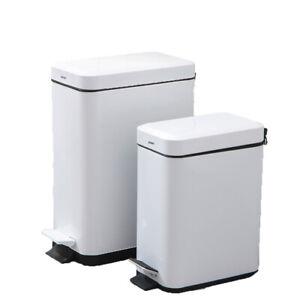 Bathroom Trash Can With Removable Step On Lid Rectangular Wastebasket Garbage Ebay