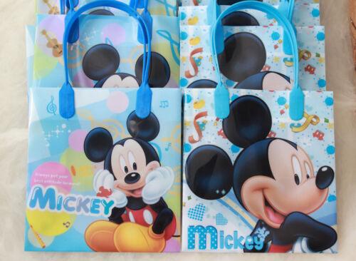 12 Pcs Disney Mickey Birthday Party Goody Gift Favor Candy Bags Kids Girls Boys