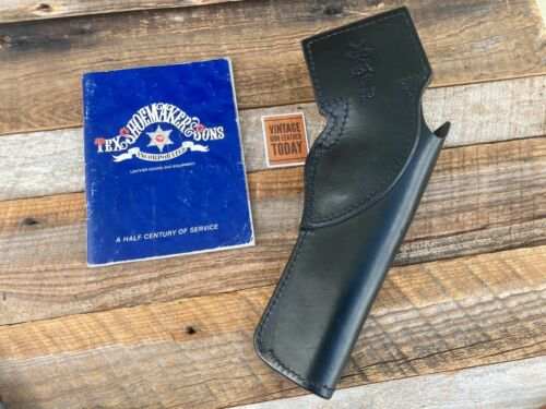 "Details about  /Tex Shoemaker 35A Plain Black Leather Border Patrol Holster For 6/"" S/&W L Frame L"