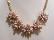 TALBOTS PINK FLOWER NECKLACE NWOT