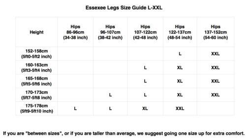 Nylon Essexee Legs Plus Size 70 Denier Opaque Tights 1 Pair Black EL487