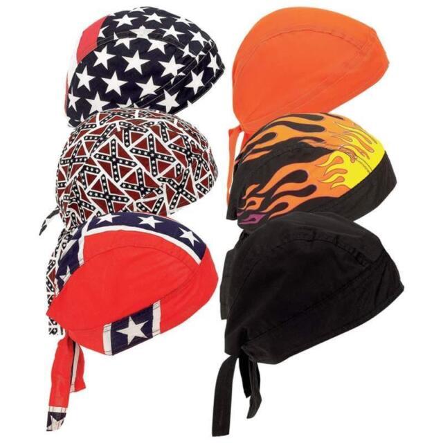 Orange Do SweatBand SKULL CAP Du RAG Head NEW Deal Biker Doo Hat Motorcycle