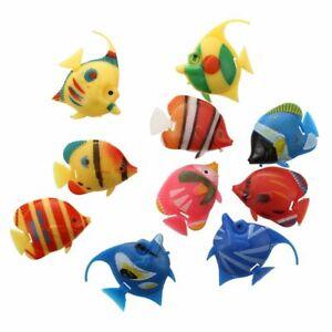 2X(10X Schwimmende Kuenstlich Deko Fisch Ornament Dekoration fuer Aquarium Z7F1)