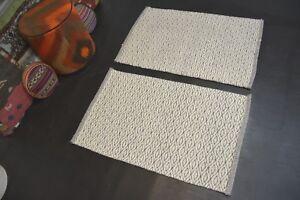 handgewebter-Teppich-Kelim-Kilim-Wolle-auf-Wolle-2x-ca-90-x-60-cm-NEU-Grau-Beige