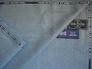 100/% FINEST WOOL SUITING FABRIC–MADE IN ENGLAND By Martin Sons-3.4 m GABERDINE