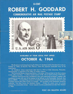 #C69 8c Robert H. Goddard Stamp Poster - Unofficial Souvenir Page Folded MC