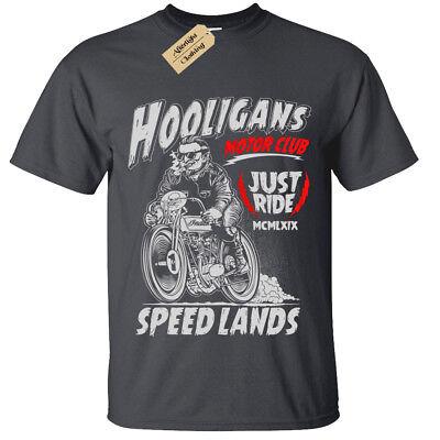 T-shirt motard squelette homme femme CADEAU vélo Moto Rider Rock Moto