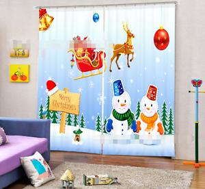 Cortina De Navidad 3D 80 Blockout Foto Impresión Cortinas De Tela Cortinas Ventana au