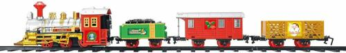 Christmas 3 Carriages Xmas Train Set Realistic Sounds Childrens Gift /& Ornament