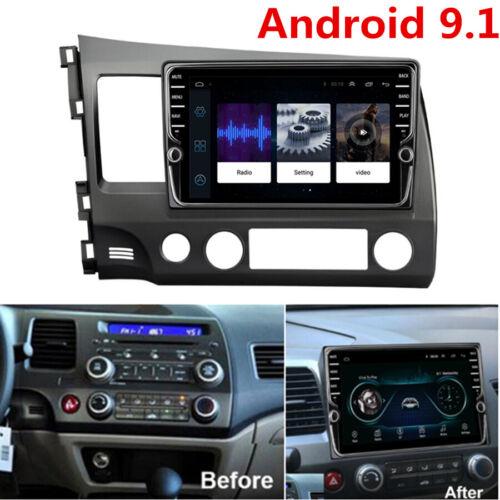 "9/"" Android 9.1 2DIN Stereo HeadUnit Radio GPS 2GB+32GB For Honda Civic 2006-2011"