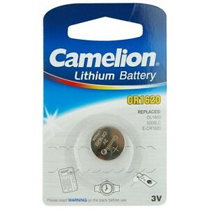 5X-batteria-pila-bottone-litio-cr1620-1620-CAMELION-CR-1620-PILE-BATTERIE