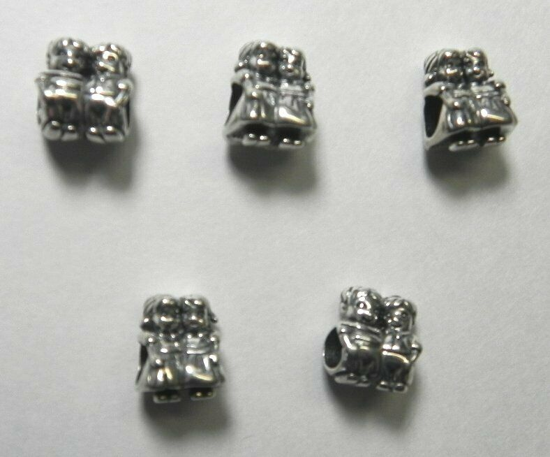 Chamilia Lot of 5 NEW Sterling SISTERS Beads 2010-3234, from Jeweler