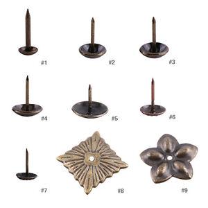 decorative nails for furniture. Image Is Loading 100x-Vintage-Bronze-Tacks-Stud-Upholstery-Antique- Decorative- Decorative Nails For Furniture T