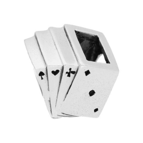 925 Tarjetas De Plata Real cuenta dije Poker Juego Juegos De Cartas