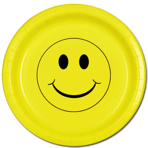 1970/'s 70/'s Party Supplies YELLOW SMILEY FACE LUNCH DINNER PLATES 1960/'s 60/'s