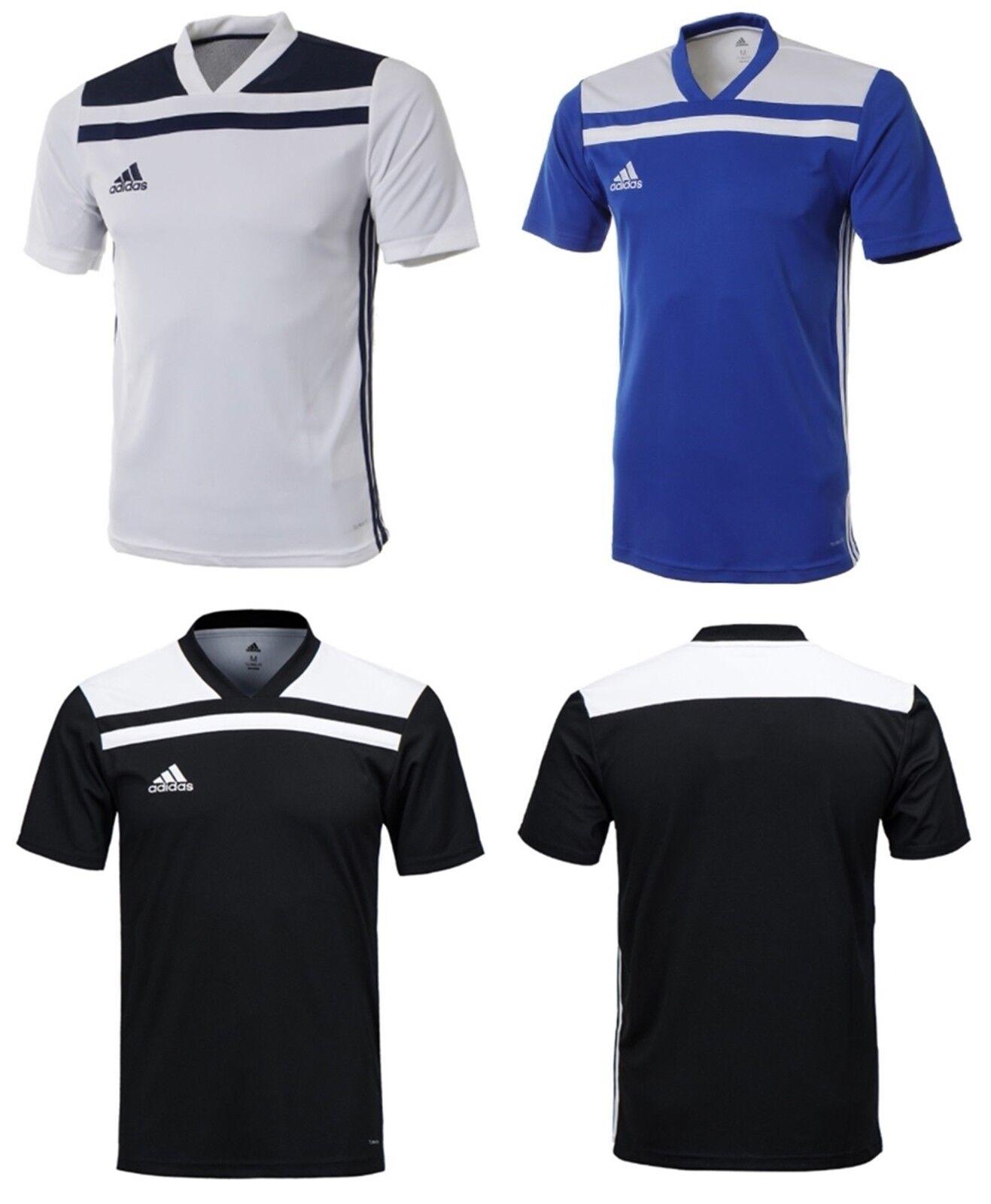 Adidas Youth Regista 18 Training Soccer Climalite Weiß Blau Schwarz Kinderhemden