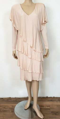 Vintage HOLLY HARP Peach Layered Romantic Tiered D