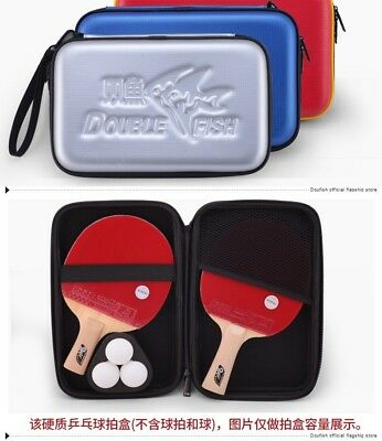 Basic Double Fish Ping Pong paddle case cover pouch bag table tennis racket