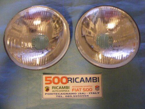 FIAT 500 D COPPIA 2 FARI CARELLO PROIETTORE FANALE GRUPPO OTTICO ANTERIORE SX+DX