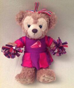 SHELLIE-MAY-Disney-NWOT-Hidden-Mickey-Tan-Bear-Plush-Cheerleader-Pink-Purple