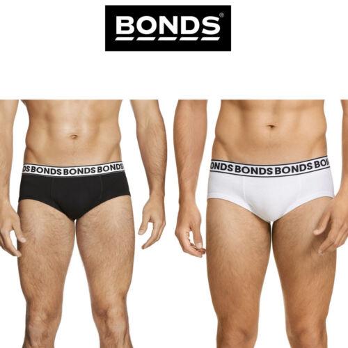 Mens Bonds Fit Brief Jocks Underwear Undies Comfort Elastic Logo Black Grey M334
