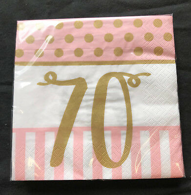 Pink Chic 70 Birthday Lunch Napkins