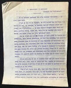 Detalles De Tapuscrit D André Frénaud Poésie La Nourriture Du Bourreau 1945
