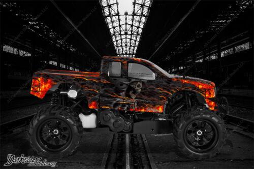 """Redcat Rampage 4wd Camioneta Wrap Gráfico calcomanía Kit /""""Hell Ride/"""" encaja Oem panel del cuerpo"""