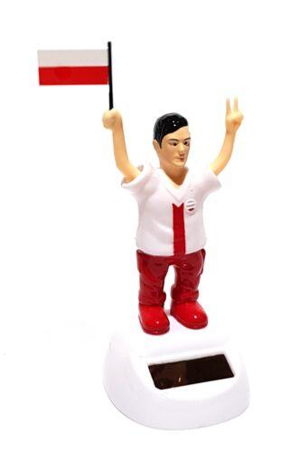 Solaire wackelfigur solaire personnage figurine Football Fan EM WM Pologne Polska maillot Nº 9