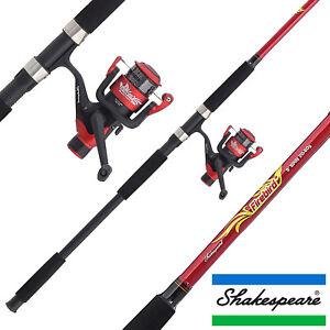 shakespeare firebird spinning combo 8ft 9ft rod reel line