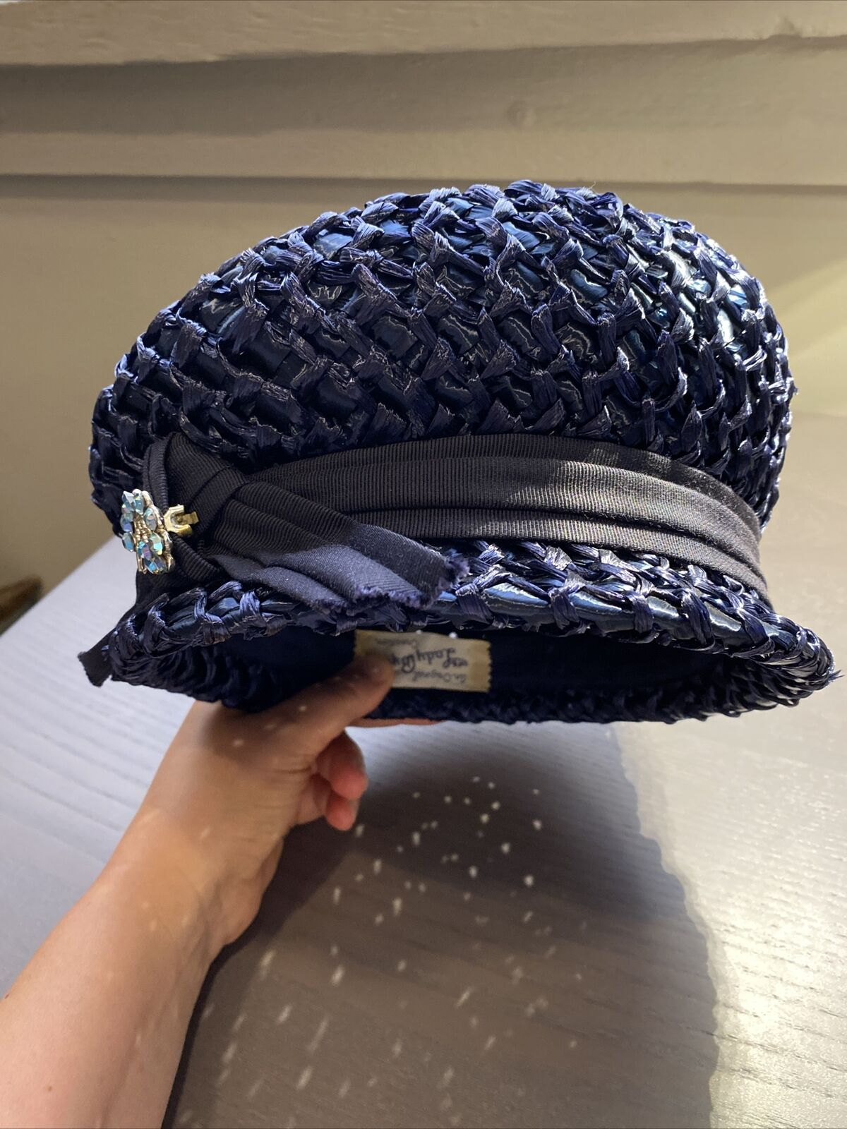An Original Lady Byrd Creation Blue Hat c.1960's - image 11