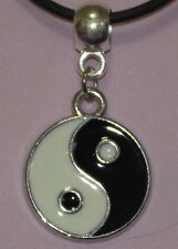 New Allow Yin Yang Pendant on an Oilskin Necklace