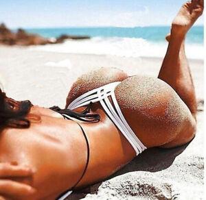 Brazilian-Women-Lady-V-Thong-Cheeky-Ruched-Bikini-Bottom-Swimwear-Beachwear-AU