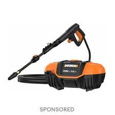 WORX WG601 1500 Max PSI 1.1 GPM 13A Electric Pressure Washer, Black and Orange