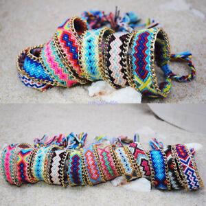 Ethnic-Handmade-Boho-Multicolor-String-Cord-Woven-Braided-Friendship-Bracelet-B